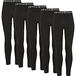 Lot de5 leggings RI noirs pour fille