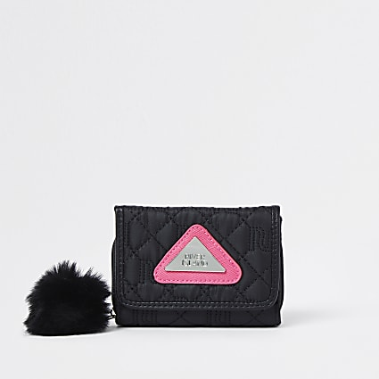Girls black RI nylon purse