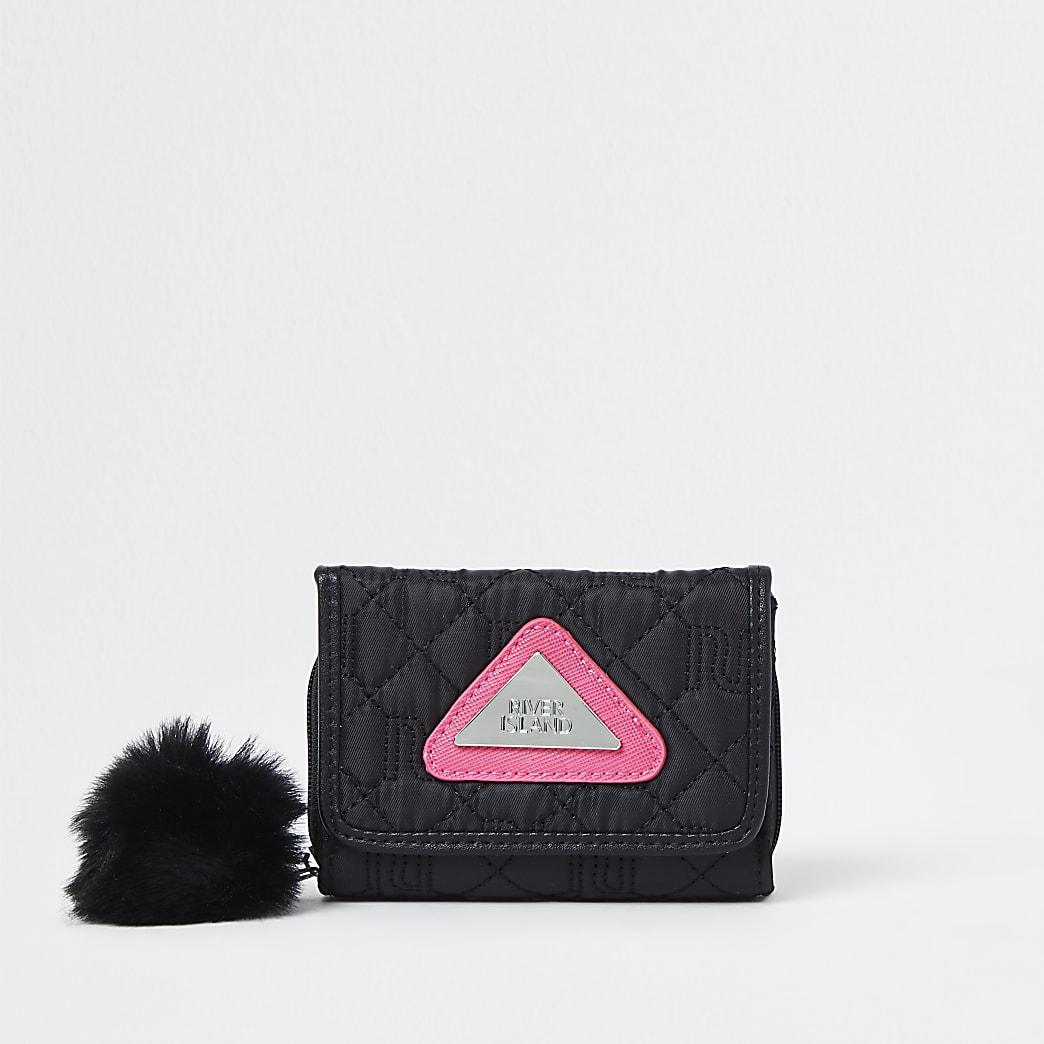 Girls black RI nylon purse