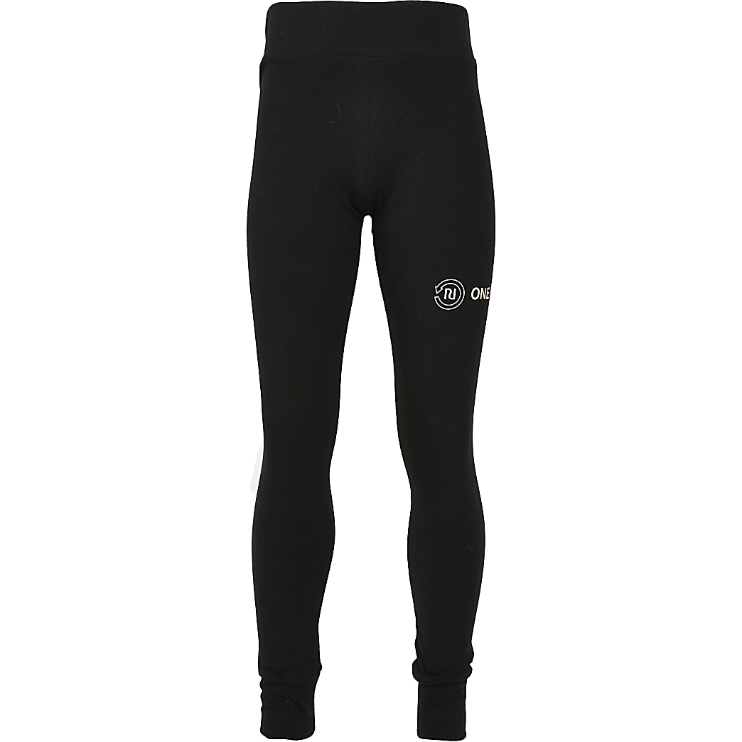 Girls black RI One leggings