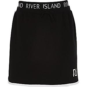 Zwarte hardloop-rok met RI-print voor meisjes