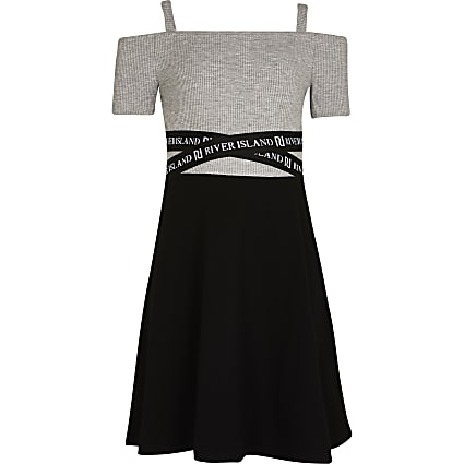 Girls black RI skater dress