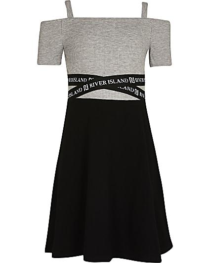 Girls black RI skater dress