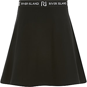 Girls black RI skirt