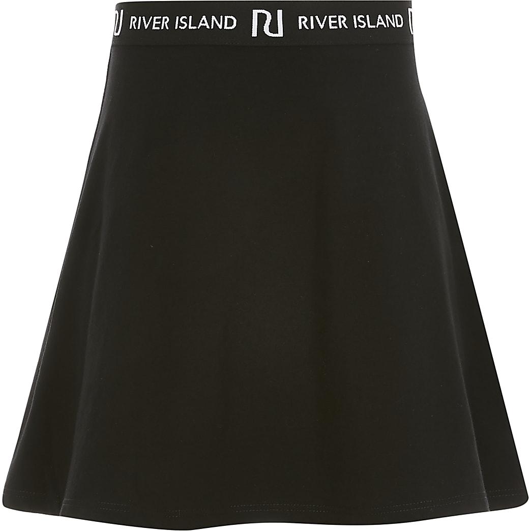 Zwarte rok met RI-bandje voor meisjes