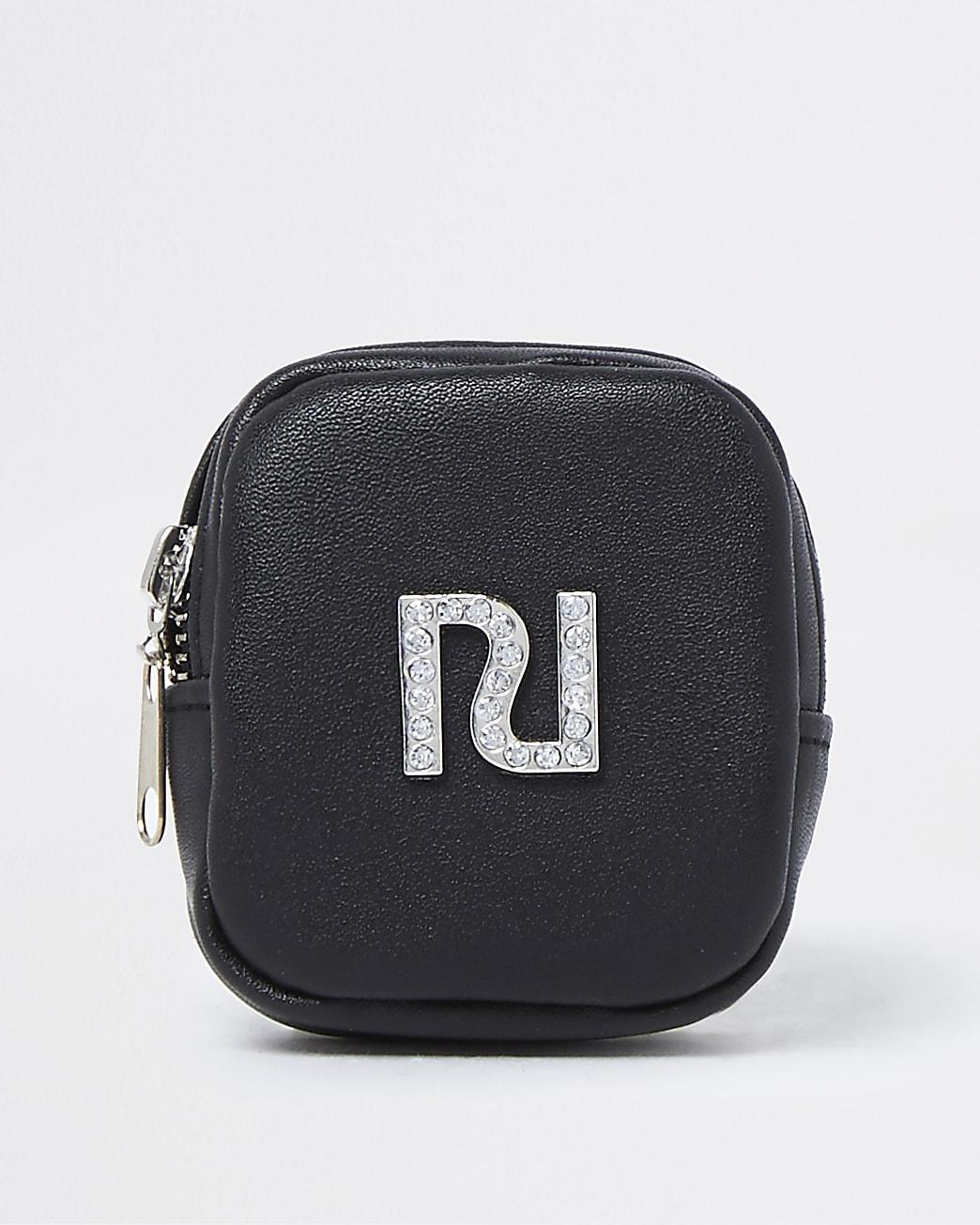 Girls black RI wrist purse