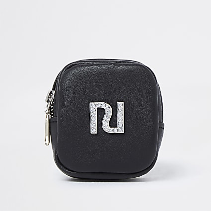 Girls black RI wrist purse