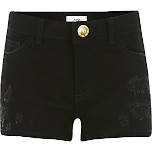 Zwarte relaxte ripped Becca shorts voor meisjes