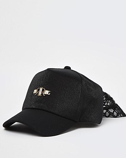 Girls black RR bow back cap