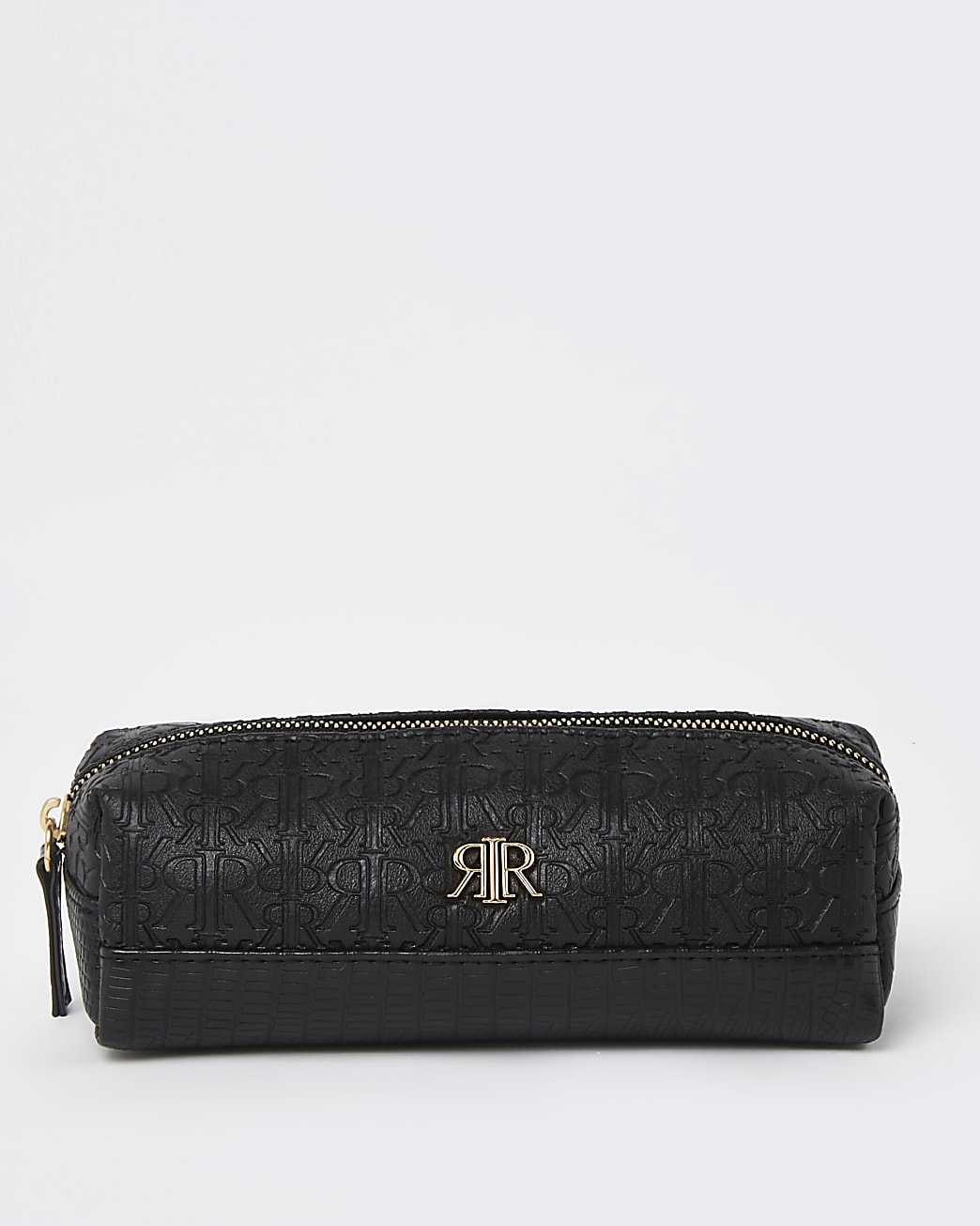 Girls black RR embossed pencil case