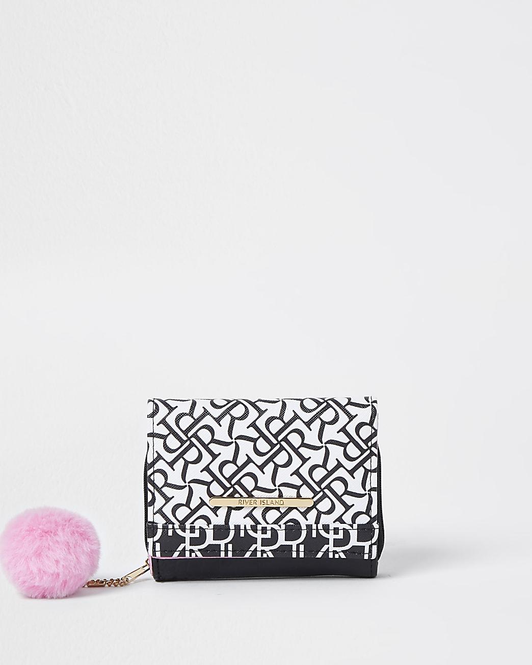 Girls black RR monogram purse