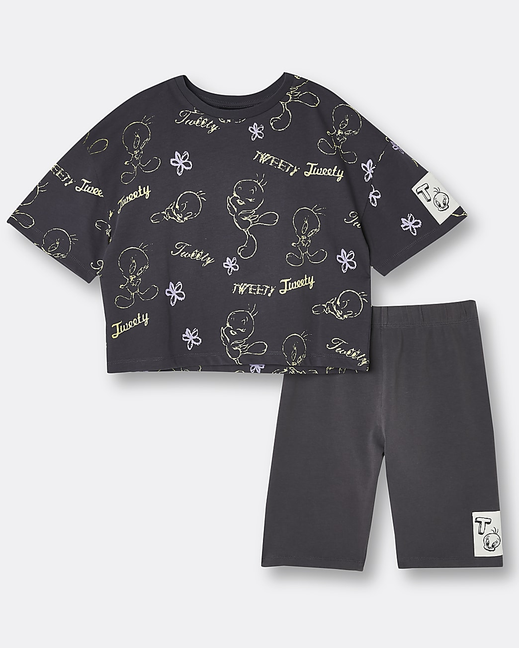 Girls black Tweety t-shirt and shorts outfit