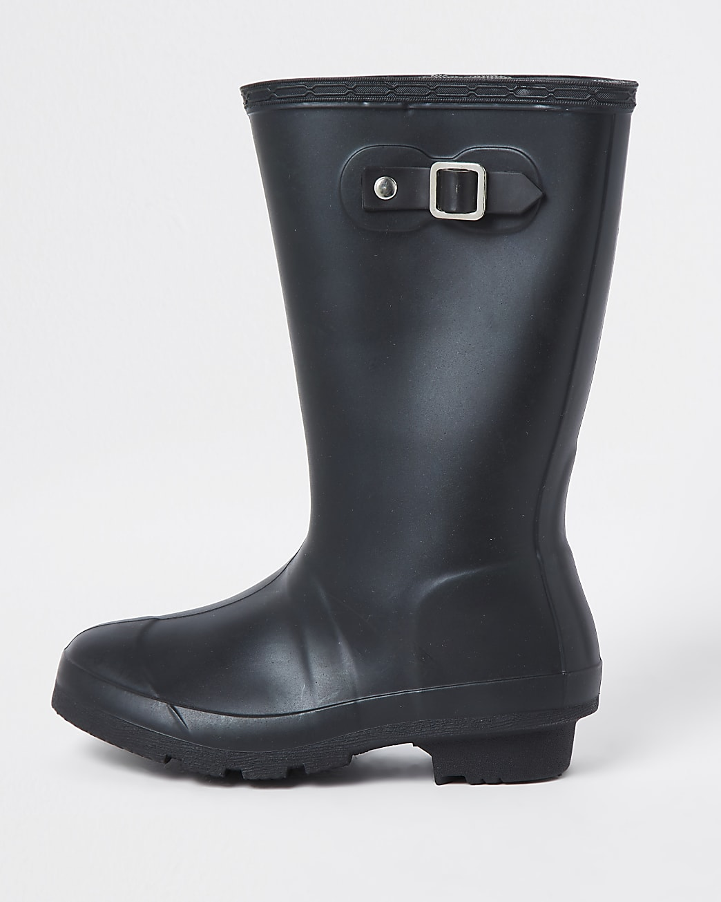 Girls black wellington boots