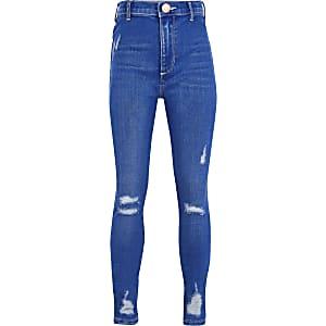 Blauwe felle Buzzy Kaia Jeans voor meisjes