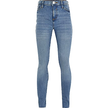 Girls blue Amelie skinny fit jeans