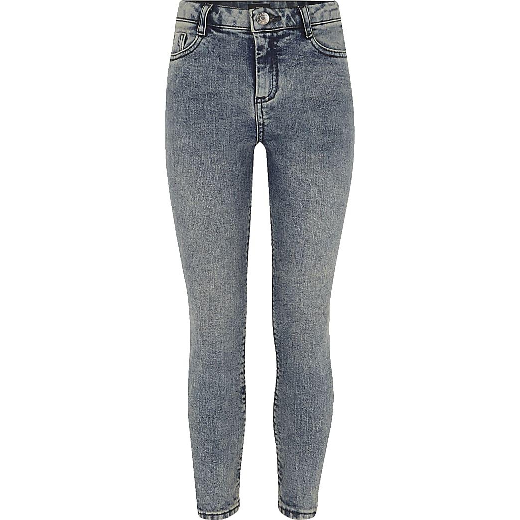 Amelie - Blauwe skinny jeans voor meisjes