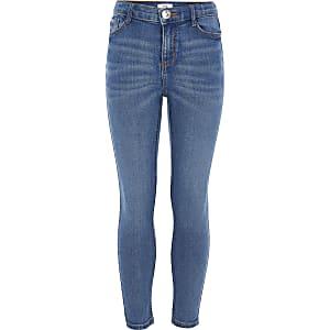 Amelie – Blaue Skinny Fit Jeans mit Stretchanteil für Mädchen