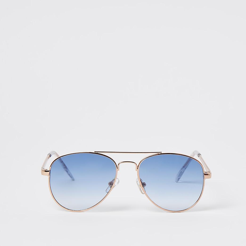 Girls blue aviator sunglasses