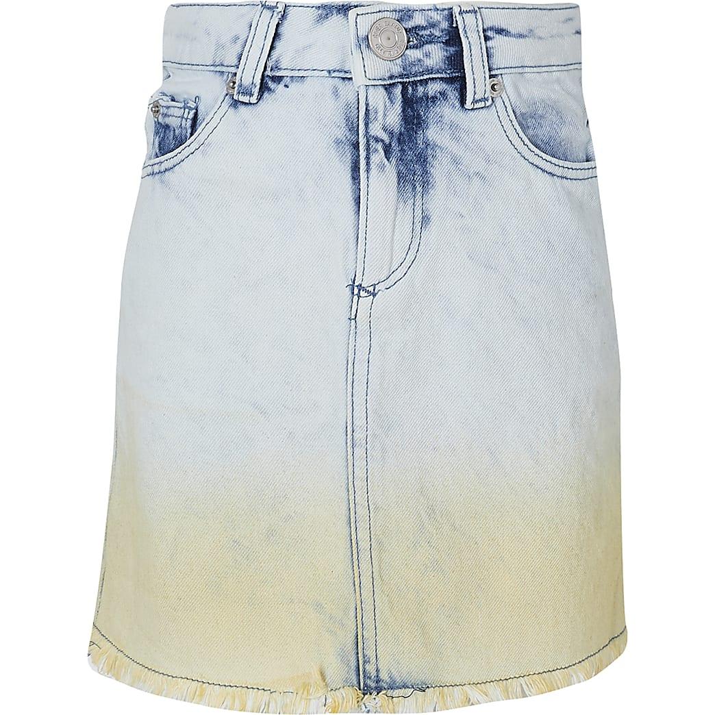Girls blue dip dye skirt