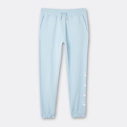 Girls blue ELLE cuffed joggers