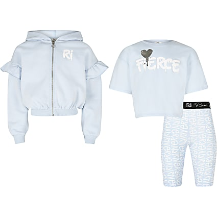 Girls blue 'Fierce' 3 piece outfit