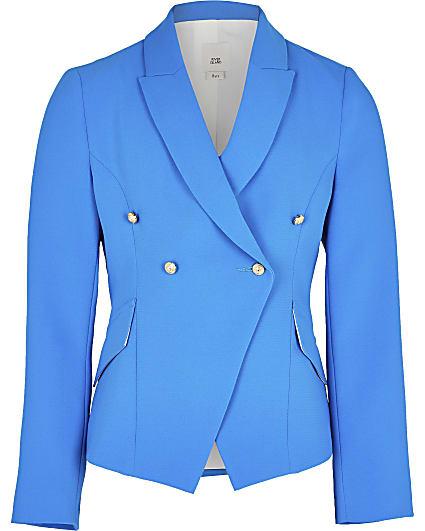 Girls blue fitted blazer