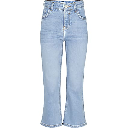 Girls blue flared leg jeans
