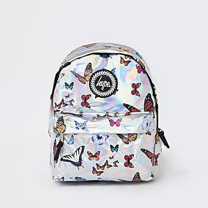 Girls blue Hype butterfly backpack