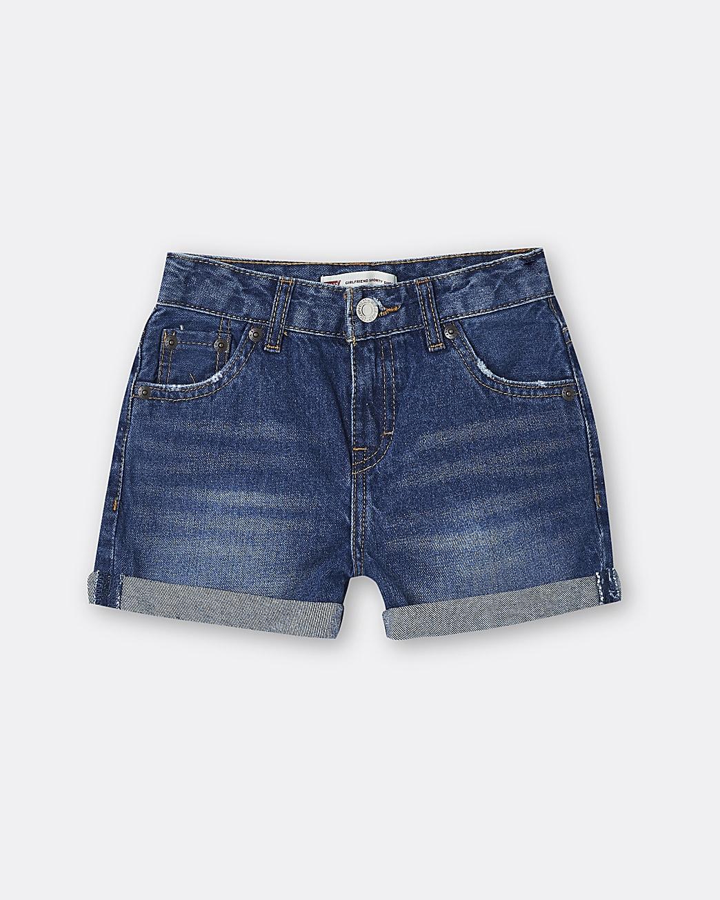 Girls blue Levi's denim shorts