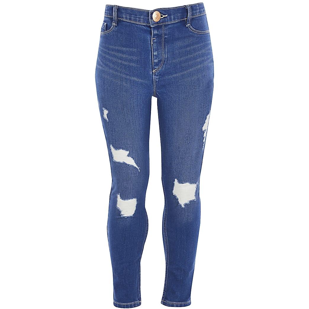 Molly - Blauwe ripped jeans voor meisjes