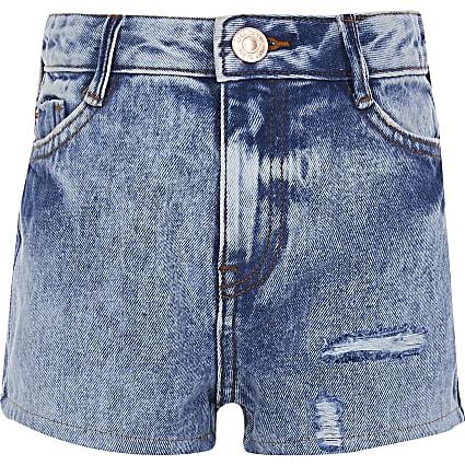 Girls Blue Nile Mom Short