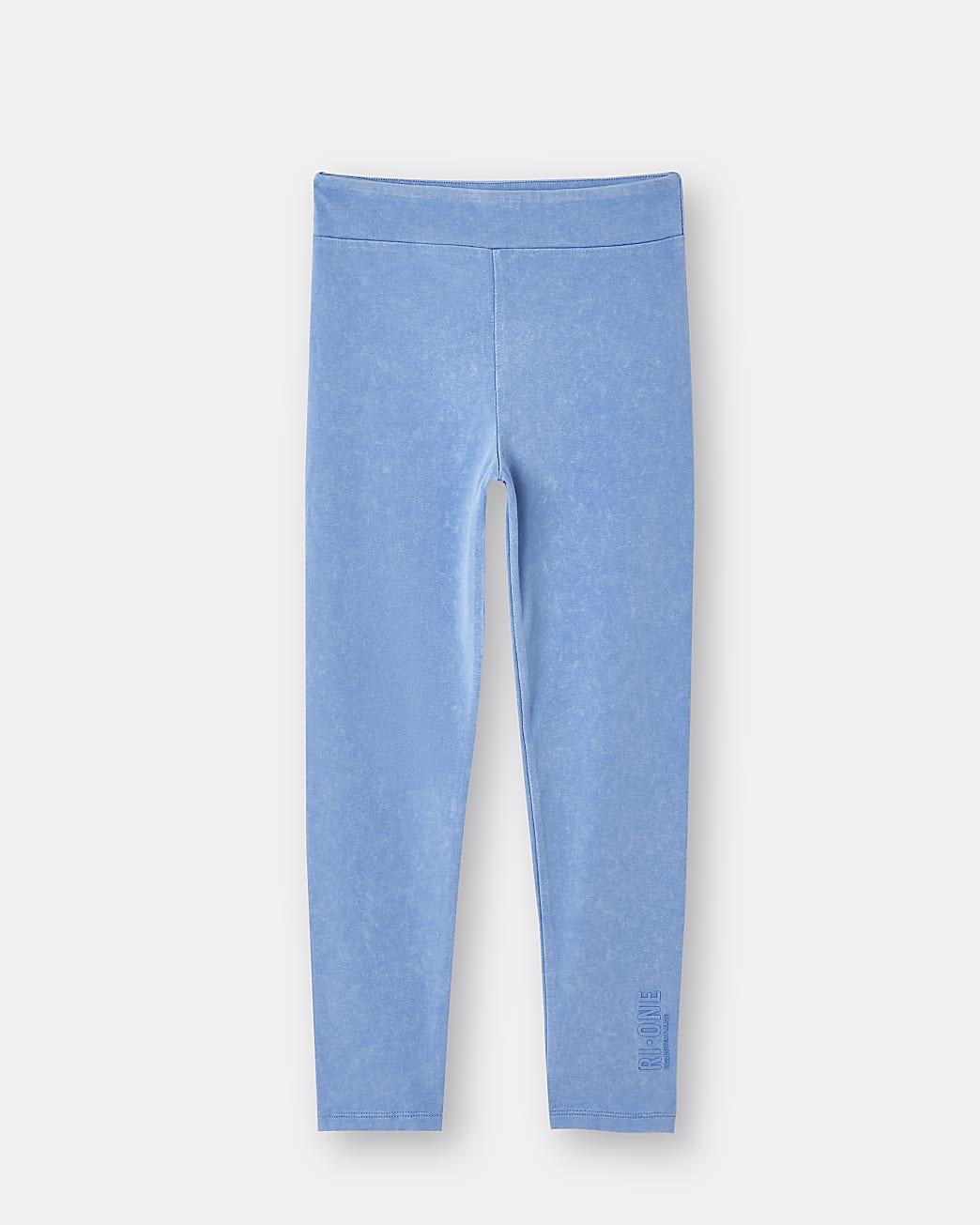 Girls blue RI ONE leggings