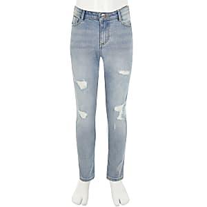 """Blaue Used-Skinny Jeans""""Amelia"""" für Mädchen"""