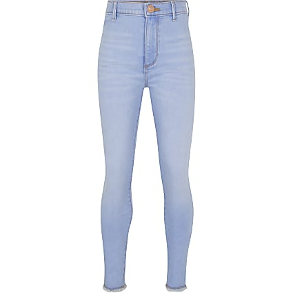 Girls blue skinny fit jeans