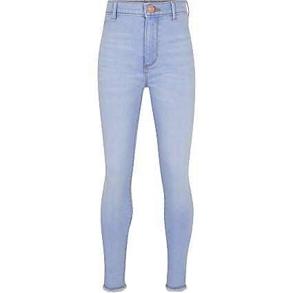Girls blue skinny fit jeans