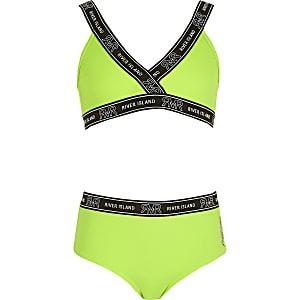 RVR – Hellgrünes Bikini-Set mit Tape für Mädchen