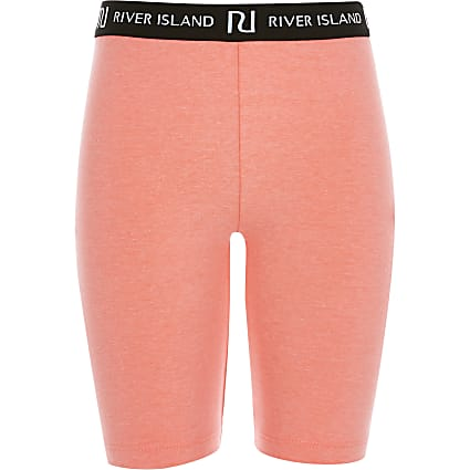 Girls bright pink RI cycling shorts