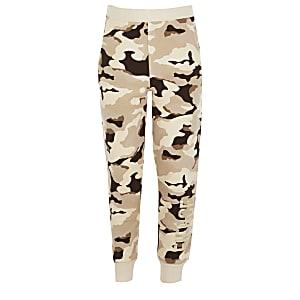 """Jogginghose """"Fierce"""" in braunem Camouflage für Mädchen"""