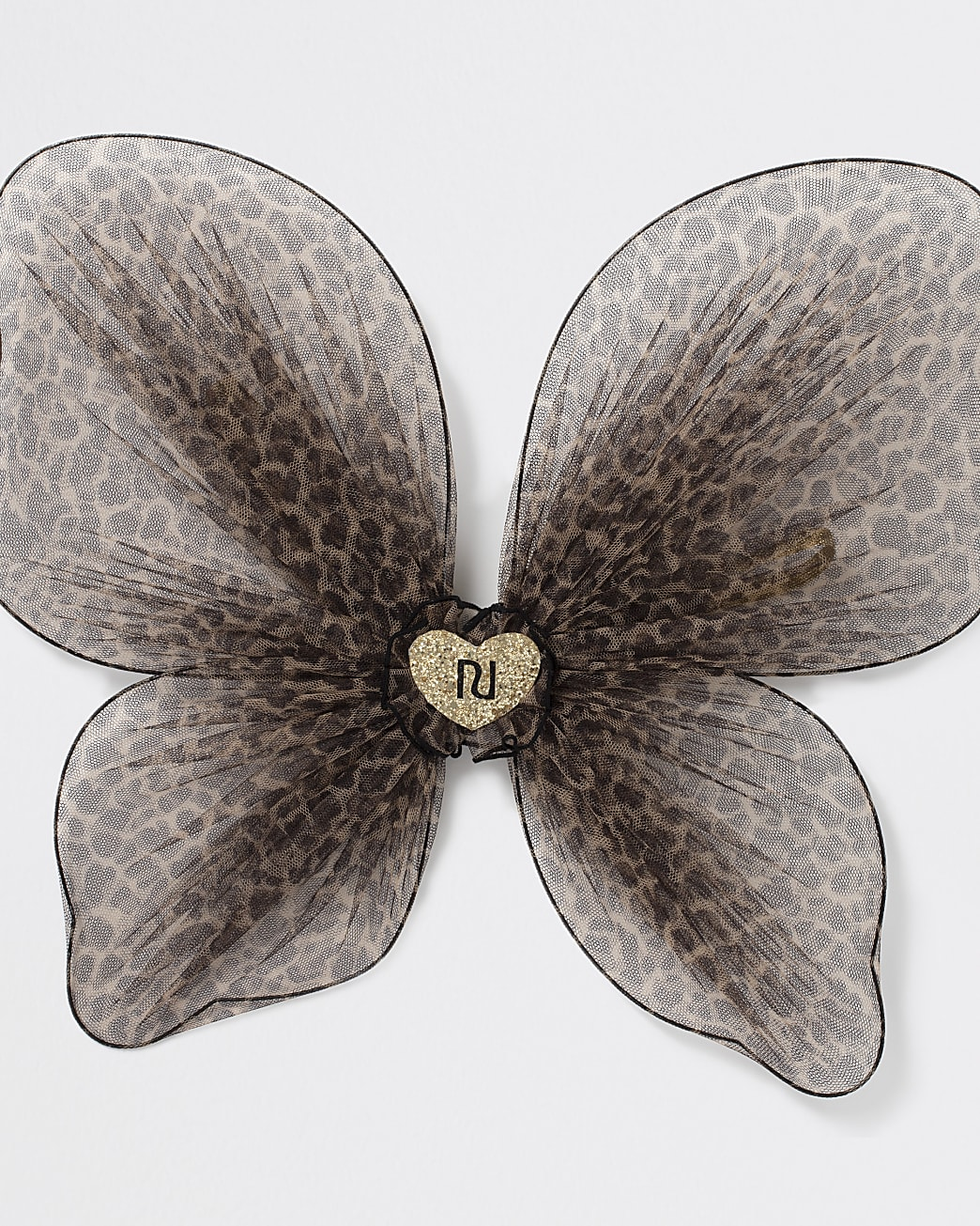 Girls brown leopard print butterfly wings