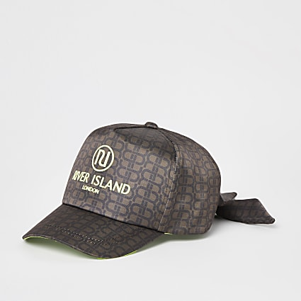Girls brown RR monogram cap