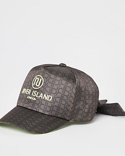 Girls brown RR monogram cap