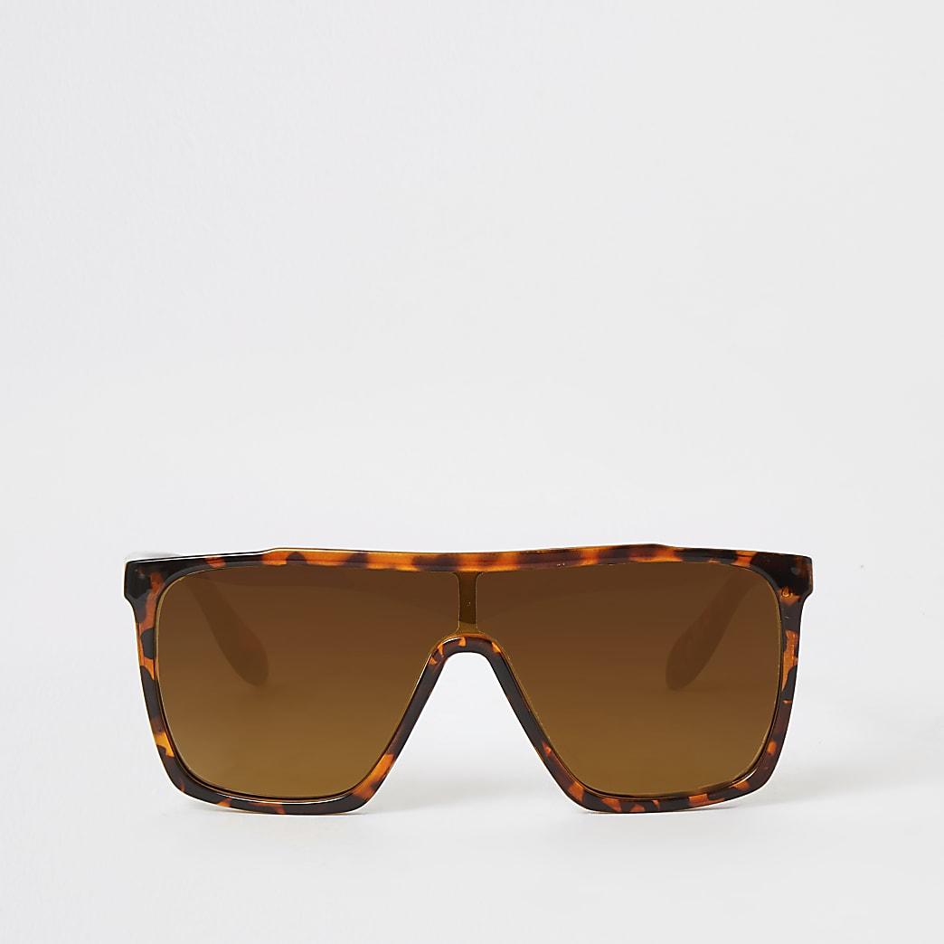 Bruine tortoise visor zonnebril voor meisjes