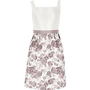 Chi Chi - Paarse rokjurk met bloemenprint voor meisjes