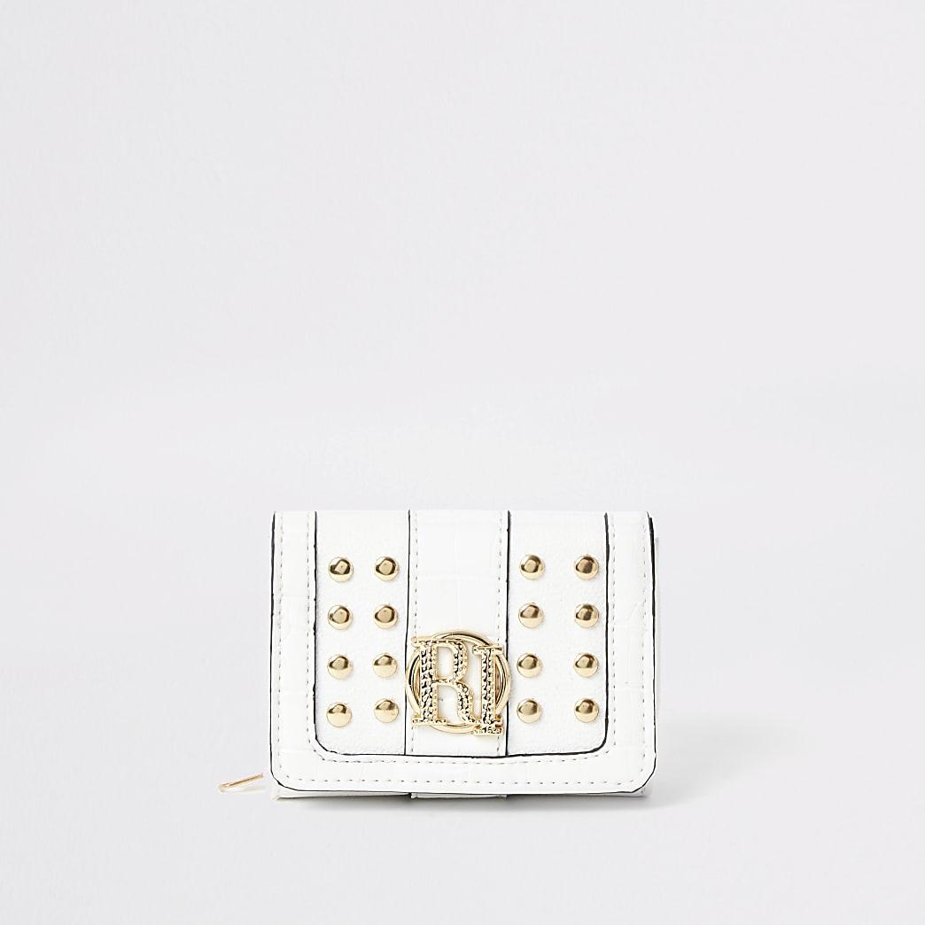 Girls cream studded RI fold out purse