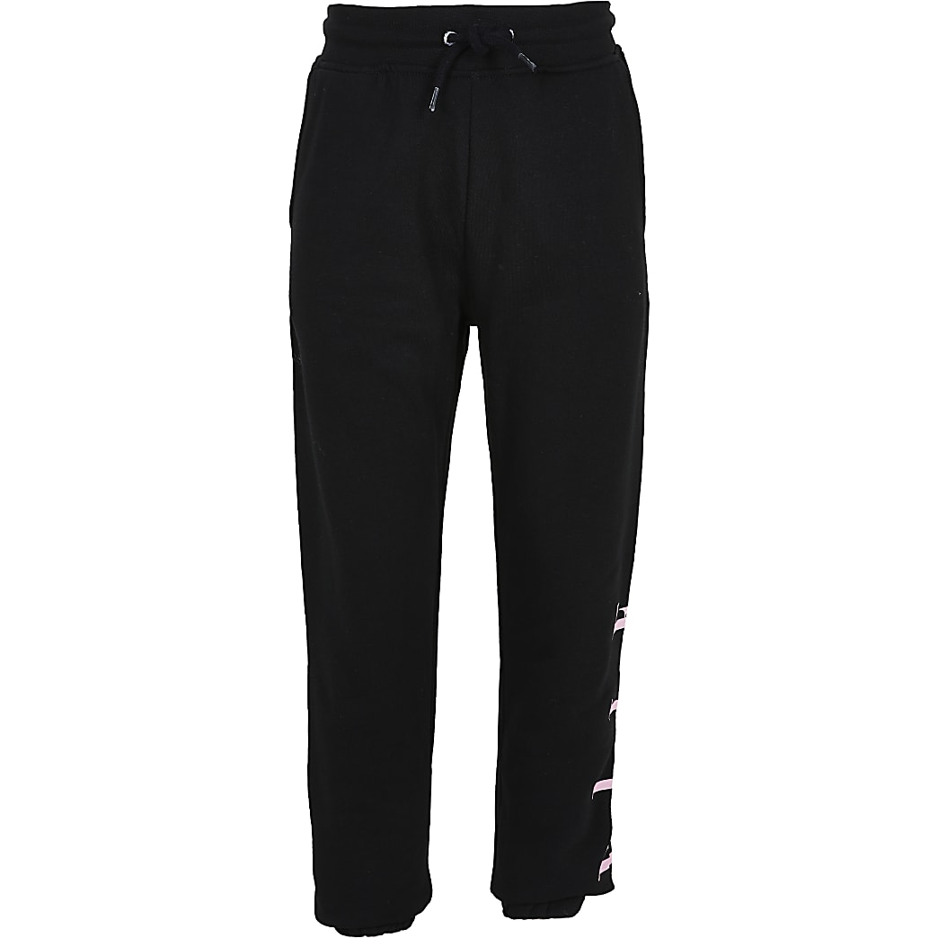 Girls ELLE black joggers