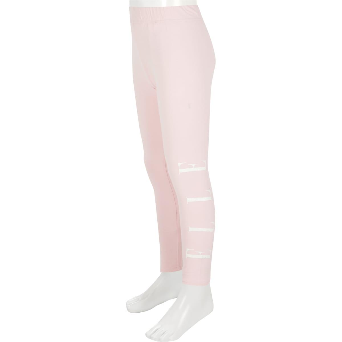 ELLE - Roze leggings met glitter logo voor meisjes