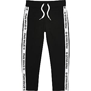 G-Star Raw - Zwarte joggingbroek met tape opzij