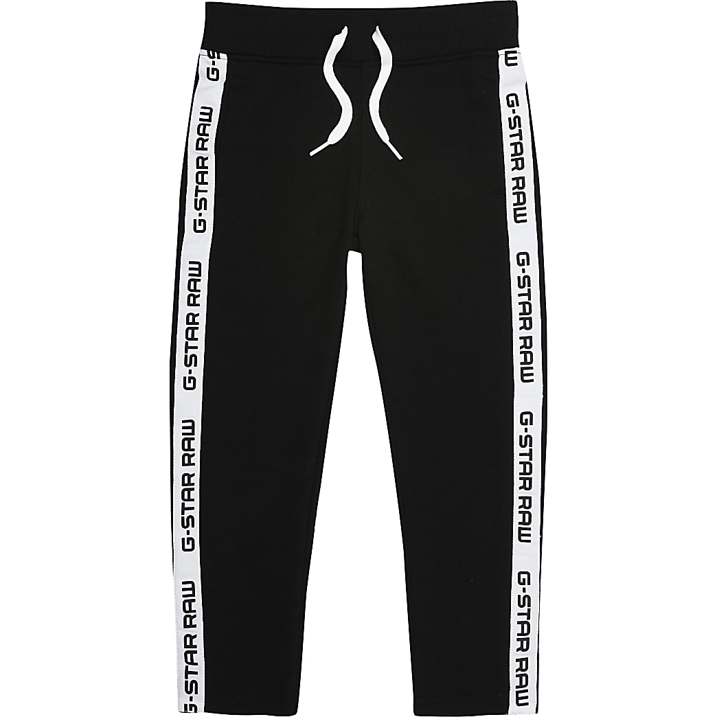 Girls G-Star Raw black side tape jogger