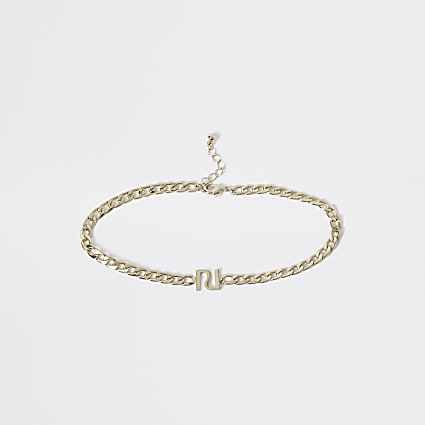 Girls gold chain RI choker
