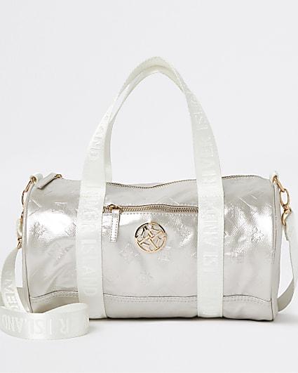 Girls gold colour RI embossed holdall bag